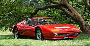 Ferrari stellte am Schloss Loucen aus Tschechische Republik am 7. Juli 2012 Stockbild