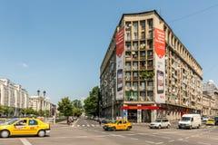 Ferrari Store. BUCHAREST, ROMANIA - JUNE 09, 2014: Ferrari Store On Victory Street In Downtown Bucharest. Founded in 1929 Ferrari is an Italian luxury sports car Royalty Free Stock Photo