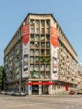 Ferrari Store. BUCHAREST, ROMANIA - JUNE 09, 2014: Ferrari Store On Victory Street In Downtown Bucharest. Founded in 1929 Ferrari is an Italian luxury sports car Royalty Free Stock Photography