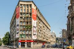 Ferrari Store. BUCHAREST, ROMANIA - JUNE 09, 2014: Ferrari Store On Victory Street In Downtown Bucharest. Founded in 1929 Ferrari is an Italian luxury sports car Royalty Free Stock Photos