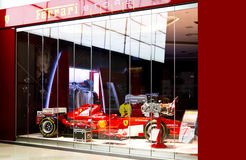 Ferrari store in Singapore Stock Photos