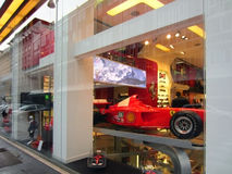 Ferrari Store in Milan Royalty Free Stock Image