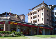 Ferrari Store and Planet Hotel Royalty Free Stock Photo