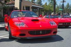 Ferrari Superamerica car on display Royalty Free Stock Photos