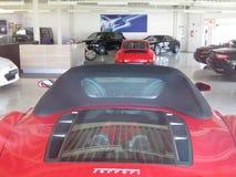 Luxury cars. Ferrari, Porsche. Supercars, garage of dream, rich man toys, ferrari, porsche, mercedes benz stock image