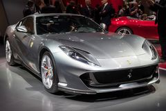 Ferrari 812 Superfast sports car. FRANKFURT, GERMANY - SEP 12, 2017: Ferrari 812 Superfast sports car showcased at the Frankfurt IAA Motor Show 2017 Stock Photography