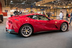Ferrari 812 Superfast sportscar. ESSEN, GERMANY - APR 6, 2017: Ferrari 812 Superfast sports car presented at the Techno Classica Essen Car Show Stock Photo