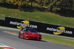 Ferrari-Tag Ferrari 2015 599 XX an Mugello-Stromkreis Stockbild