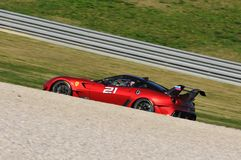 Ferrari-Tag Ferrari 2015 599 XX an Mugello-Stromkreis Lizenzfreies Stockfoto