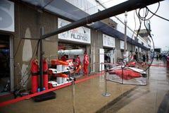 Ferrari Team Preparing Felipe Massa's car Royalty Free Stock Photo