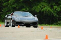 Ferrari Test Drive: Mechanical Music. Ferrari Test Drive - F430 dream car test drive stock images