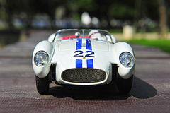 Ferrari Testa Rossa Pontoon Fender racing car - front view Stock Images