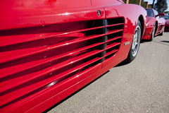 Ferrari Testarossa air intake scoop Stock Photos