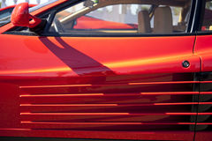 Ferrari Testarossa air intake scoop Stock Photography