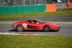 Ferrari Testarossa alla concorrenza di Mille Miglia Tribute Fotografie Stock Libere da Diritti