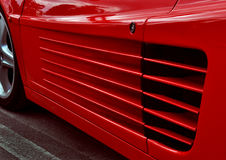 Ferrari testarossa. Detail of side air inlet royalty free stock images