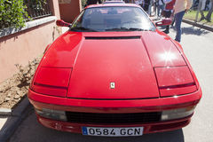 Ferrari Testarossa hood Royalty Free Stock Photo