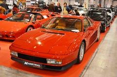Ferrari Testarossa koloru czerwień, rok 1991 przy rocznik samochodową ekspozycją w Padova, 2015 Zdjęcie Royalty Free