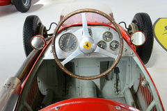 Ferrari Tipo 500 αγωνιστικό αυτοκίνητο τύπου F2 - εσωτερικό Στοκ φωτογραφίες με δικαίωμα ελεύθερης χρήσης