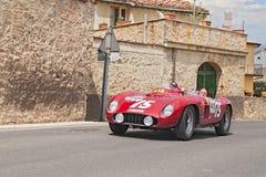 Ferrari 500 TR spider Scaglietti (1956) runs in Mille Miglia 201 Stock Photo