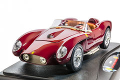 Ferrari TR 250 Testa Rossa 1958 scale model. The Ferrari TR, or 250 Testa Rossa, is a race car model built by Ferrari in the 1950s and 1960s. They were Royalty Free Stock Photo