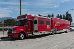Ferrari transport truck on display Royalty Free Stock Photos