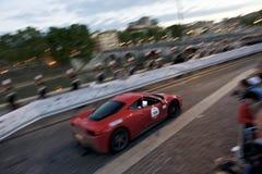 Ferrari under Mille Miglia i Rome Arkivfoton