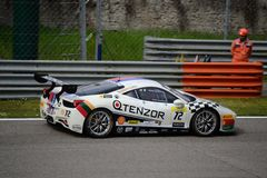 Ferrari utmaning 458 Italia på Monza Royaltyfria Foton
