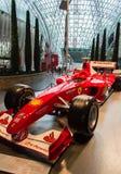 Ferrari värld i Abu Dhabi Arkivfoto