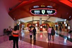 Ferrari värld i Abu Dhabi UAE Arkivbild