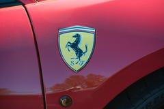 Ferrari in Vaduz wordt geparkeerd die royalty-vrije stock fotografie