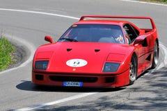 Ferrari - Vernasca silberne Markierungsfahne 2011 Stockbild