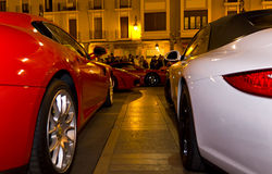 ferrari vs Porsche Obrazy Stock