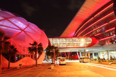Ferrari-Welt in Yas-Insel in Abu Dhabi Lizenzfreies Stockbild