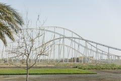 Ferrari-Weltachterbahn bei Abu Dhabi, UAE Lizenzfreies Stockbild