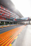 Ferrari-Welteingang bei Abu Dhabi, UAE Stockfotografie