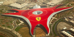 Ferrari-Weltpark Stockfotos