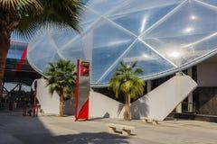 Ferrari-Weltpark in Abu Dhabi Stockbild