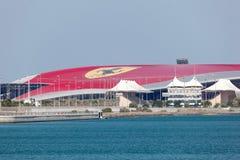 Ferrari-Weltvergnügungspark in Abu Dhabi Lizenzfreies Stockfoto