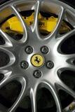 Ferrari wheel. Ferrari logo on a wheel car Stock Photography