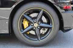 Ferrari wheel on display Stock Image