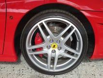 Ferrari. Wheel Supercar molten disc stock photo