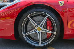 Ferrari Wheels on display Royalty Free Stock Photo