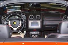 Ferrari wnętrze Fotografia Stock