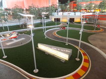 Ferrari World in Abu Dhabi, UAE Stock Photo