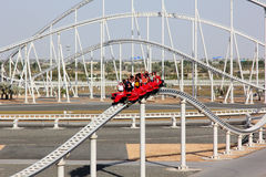 Ferrari world roller coaster Stock Images