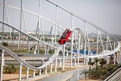 Ferrari world roller coaster Royalty Free Stock Image