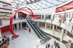 Ferrari World Theme Park in Abu Dhabi Stock Images