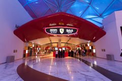Ferrari World Theme Park in Abu Dhabi Royalty Free Stock Images