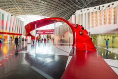 Ferrari World at Yas Island in Abu Dhabi Royalty Free Stock Photo